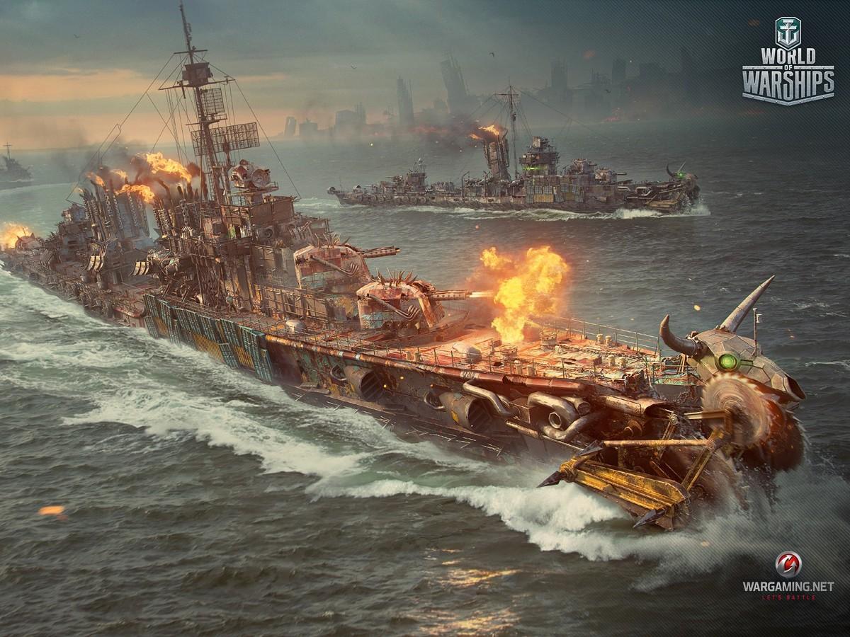Обои wg, wargaming net, wows, мир кораблей, шторм. Игры foto 12